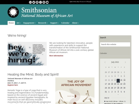 Smithsonian Institution's National Museum of African Art