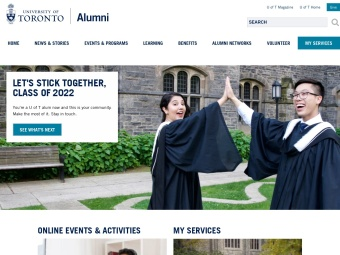 University of Toronto Alumni Website