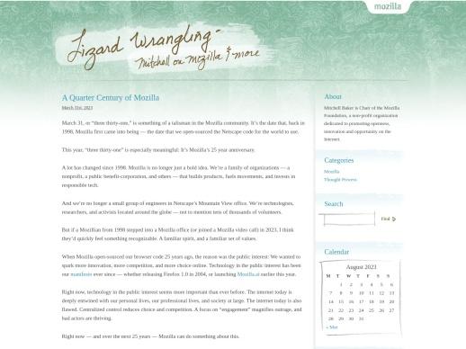 Mitchell's Blog