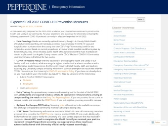 Pepperdine Emergency Information