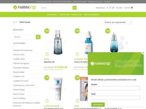Tienda online de Farmavip