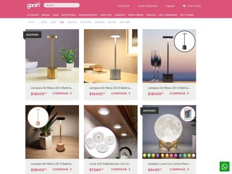 Tienda online de Iluminación en Gorsh