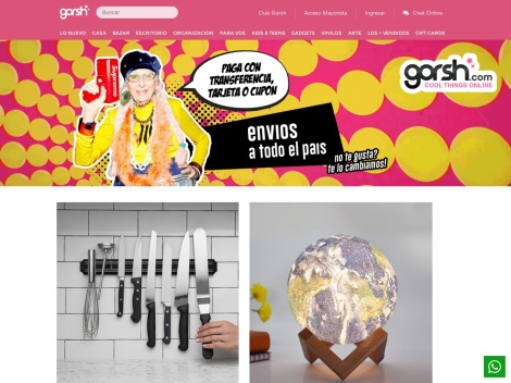 Tienda online de Gorsh º Tienda de Objetos de Diseño º