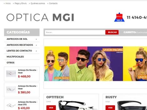Tienda online de Óptica MGI