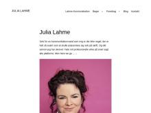 Julia Lahmes blog. Julia kan ikke lade være med (hendes ord) at dele stort og småt på sin blog.