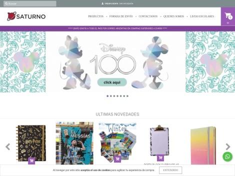 Tienda online de Librería Saturno