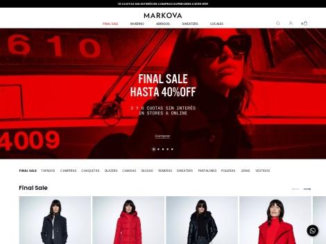 Tienda online de Markova | Tienda Online + Outlet Digital