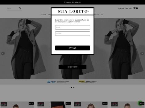 Tienda online de Mia Loreto