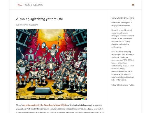 New Music Strategies