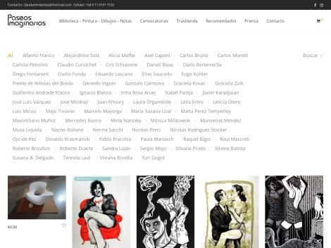 Tienda online de Paseos Imaginarios | Tienda de Arte Argentino e Internacional