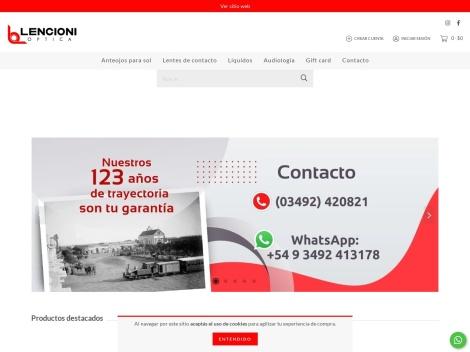 Tienda online de Optica Lencioni