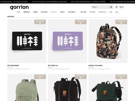 """Tienda online de Mochilas de Diseño """"Gorrión"""""""