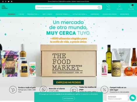 Tienda online de The Food Market