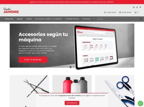 Tienda online de Maquinas de Coser, Hilos y Agujas: Janome Argentina