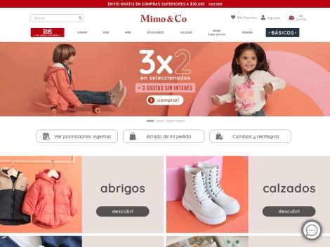 Tienda online de Venta de Ropa de Mimo & Co.