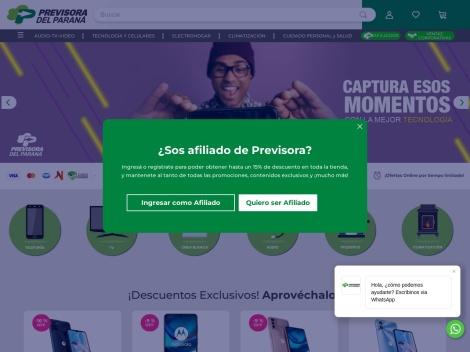 Tienda online de Previsora del Paraná ✅