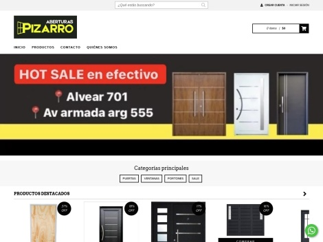 Tienda online de Aberturas Pizarro