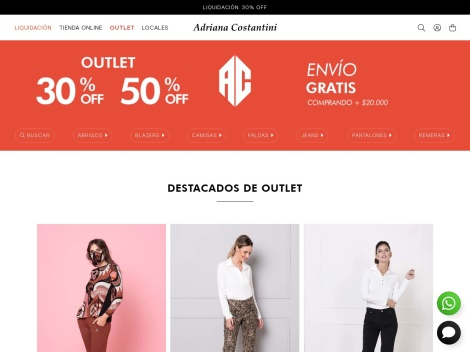 Tienda online de Outlet de Adriana Costantini