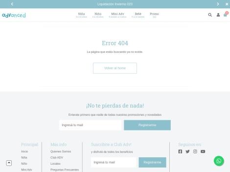 Tienda online de Advanced Ropa Infantil