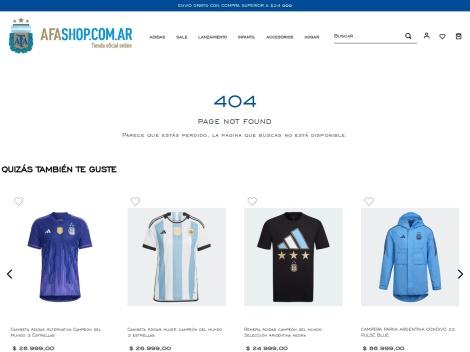 Tienda online de AFA Shop