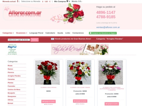 Tienda online de Aflorar   Floreria Online