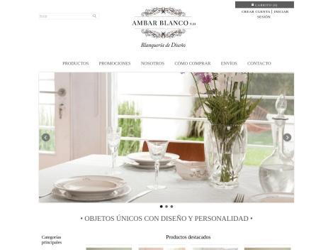 Tienda online de Ambar Blanco | Blanquería de Diseño