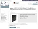 ARC-Registres :  Outils de gestion pour l'entrepri