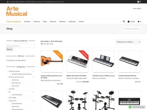 Tienda online de Arte Musical (Casa de Música)