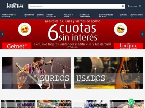 Tienda online de Venta de Instrumentos Musicales: Casa Libertella