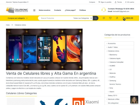 Tienda online de Celutronic – Tecnología Celular