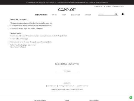 Tienda online de Complot Outlet Online