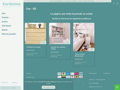 """Tienda online de Venta de Muebles para Chicos: """"Cordonné"""""""
