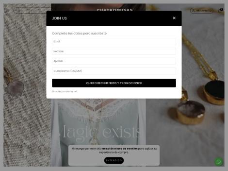 Tienda online de Cuatro Musas | Tienda de Accesorios de Moda