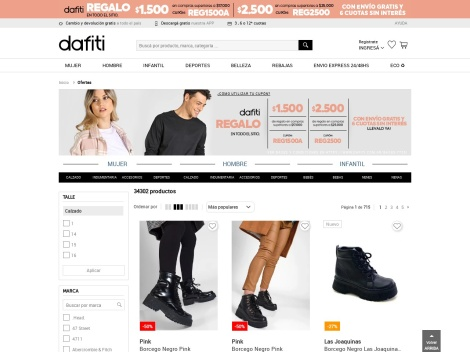Tienda online de Outlet de Dafiti