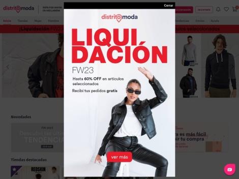Tienda online de Distrito Moda (Tienda Multimarca Mayorista)