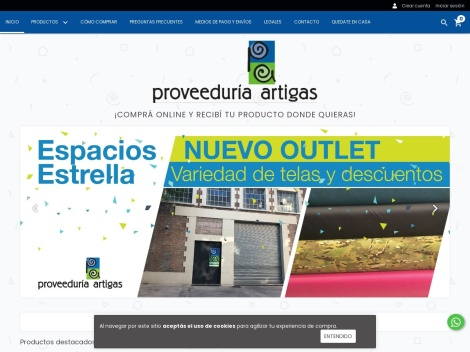 Tienda online de e-Telas: Proveeduría Artigas