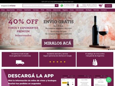 Tienda online de Espacio Vino | Ventas de Vinos Online