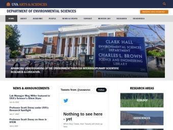 U.Va Department of Environmental Sciences