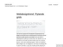 Truleg den einaste webdesign-bloggen på nynorsk.