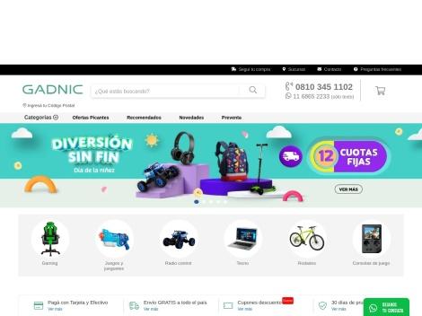 Tienda online de GADNIC Argentina