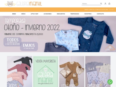 Tienda online de Galería Infantil (Mayorista)