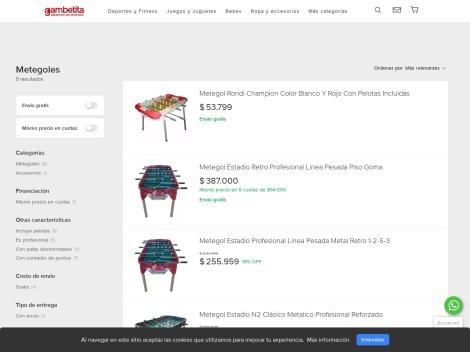Tienda online de Gambetita