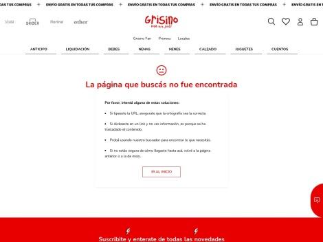 Tienda online de Grisino Argentina (Ropa de Bebe)