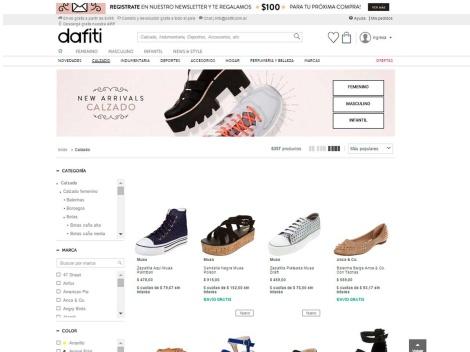 Tienda online de Dafiti Zapatos Online