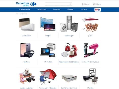 Tienda online de Carrefour Online Argentina