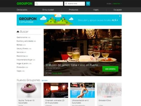Tienda online de Groupon Argentina