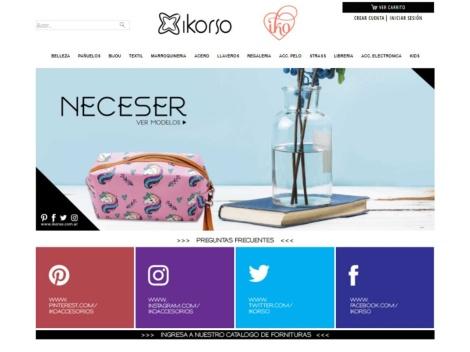 Tienda online de Ikorso (Mayorista de Bijouterie y Complementos)