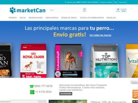 Tienda online de Pet Shop Marketcan