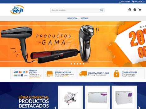 Tienda online de M&A Equipamientos