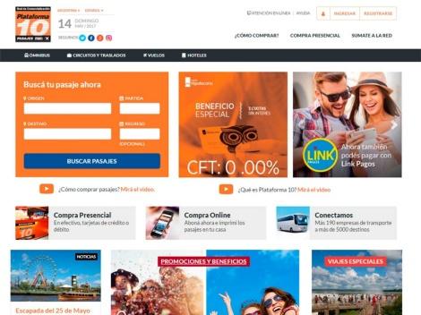 Tienda online de Venta online de Pasajes de Micro – Plataforma 10 –